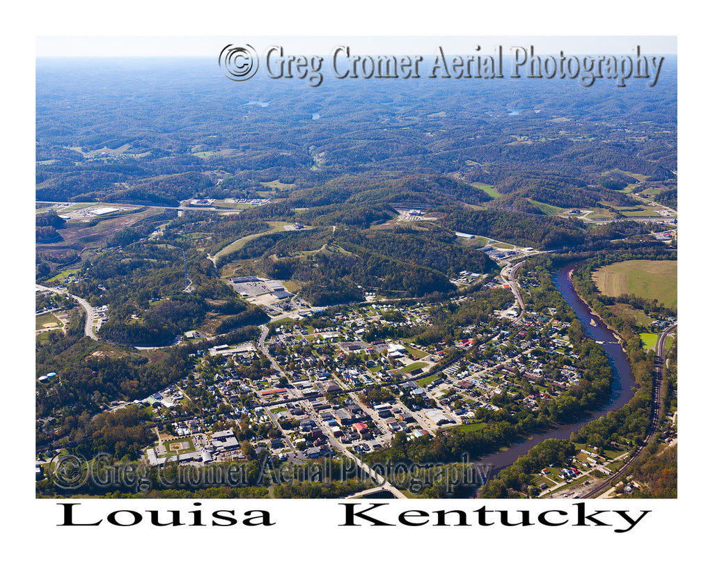 Aerial Photo of Louisa, Kentucky