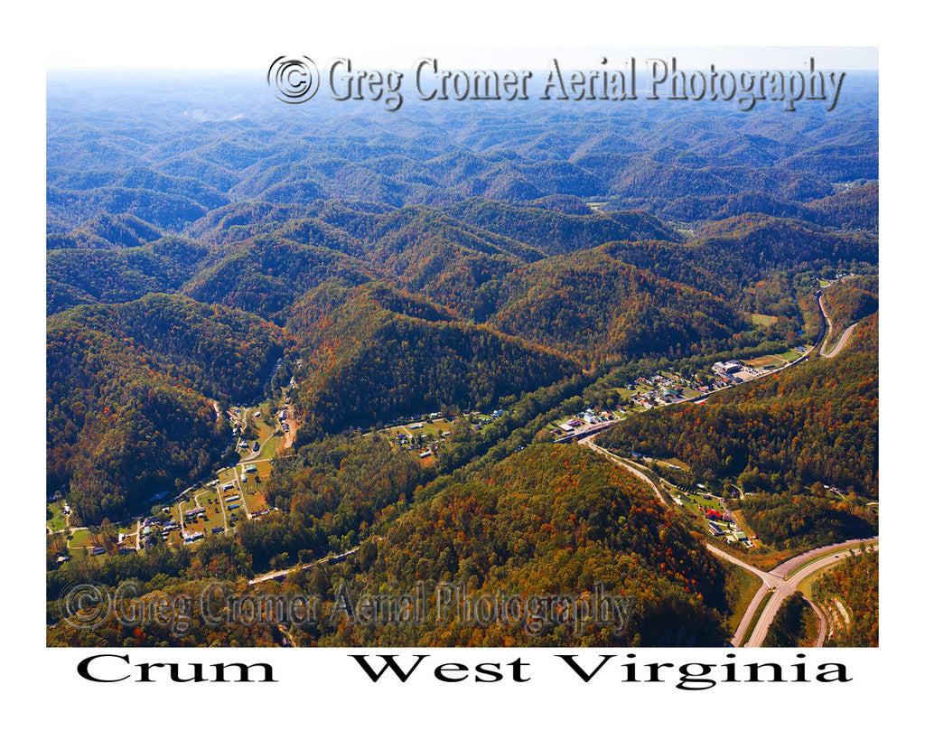 Aerial Photo of Crum, West Virginia