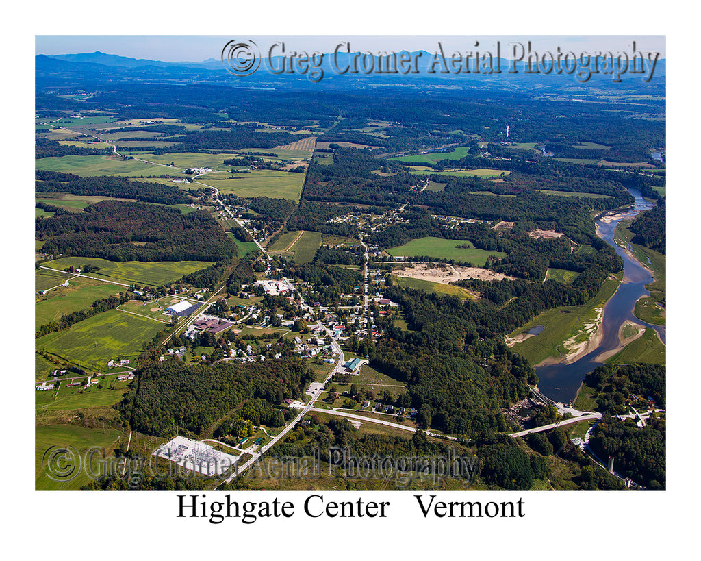 Aerial Photo of Highgate Center, Vermont