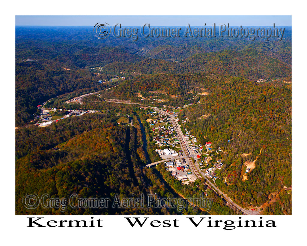Aerial Photo of Kermit, West Virginia