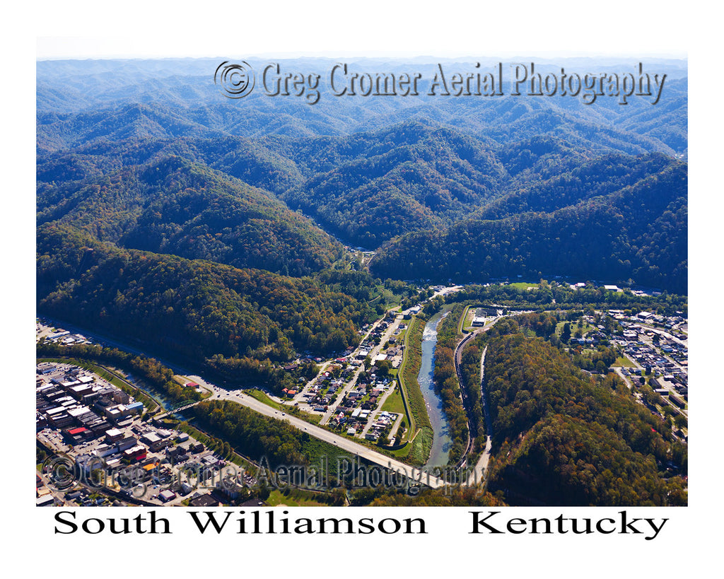 Aerial Photo of South Williamson, Kentucky