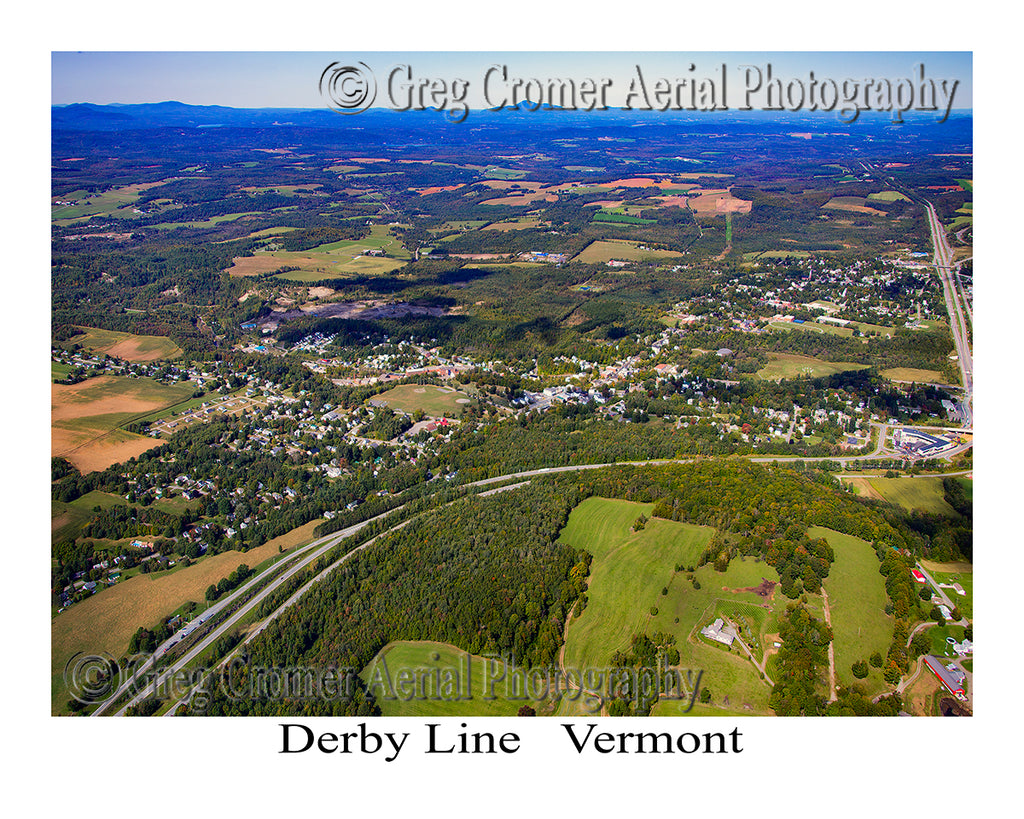 Aerial Photo of Derby Line, Vermont