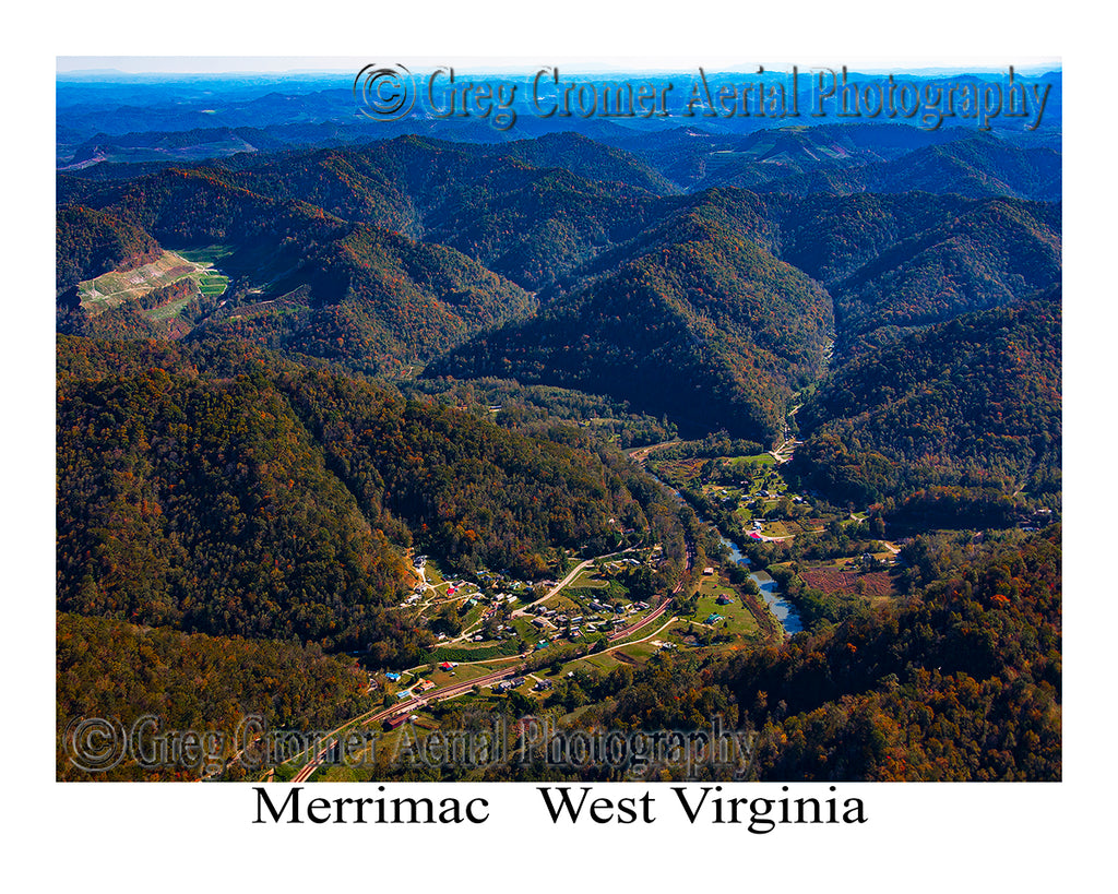 Aerial Photo of Merrimac, West Virginia