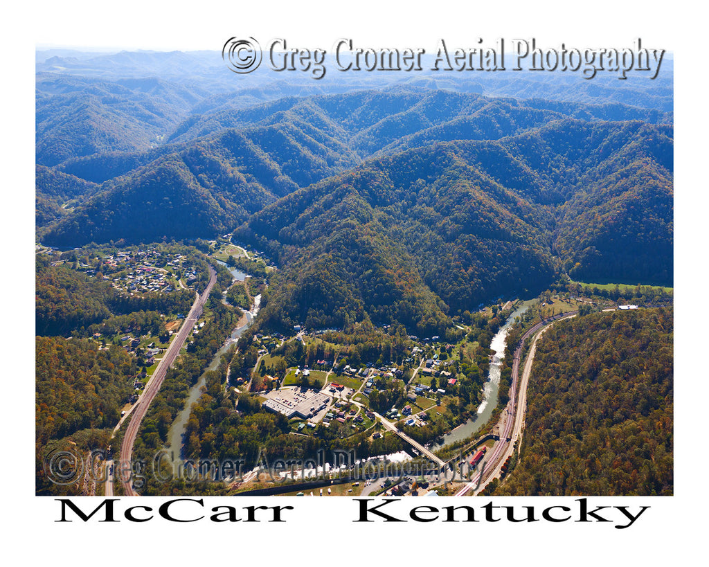 Aerial Photo of McCarr, Kentucky