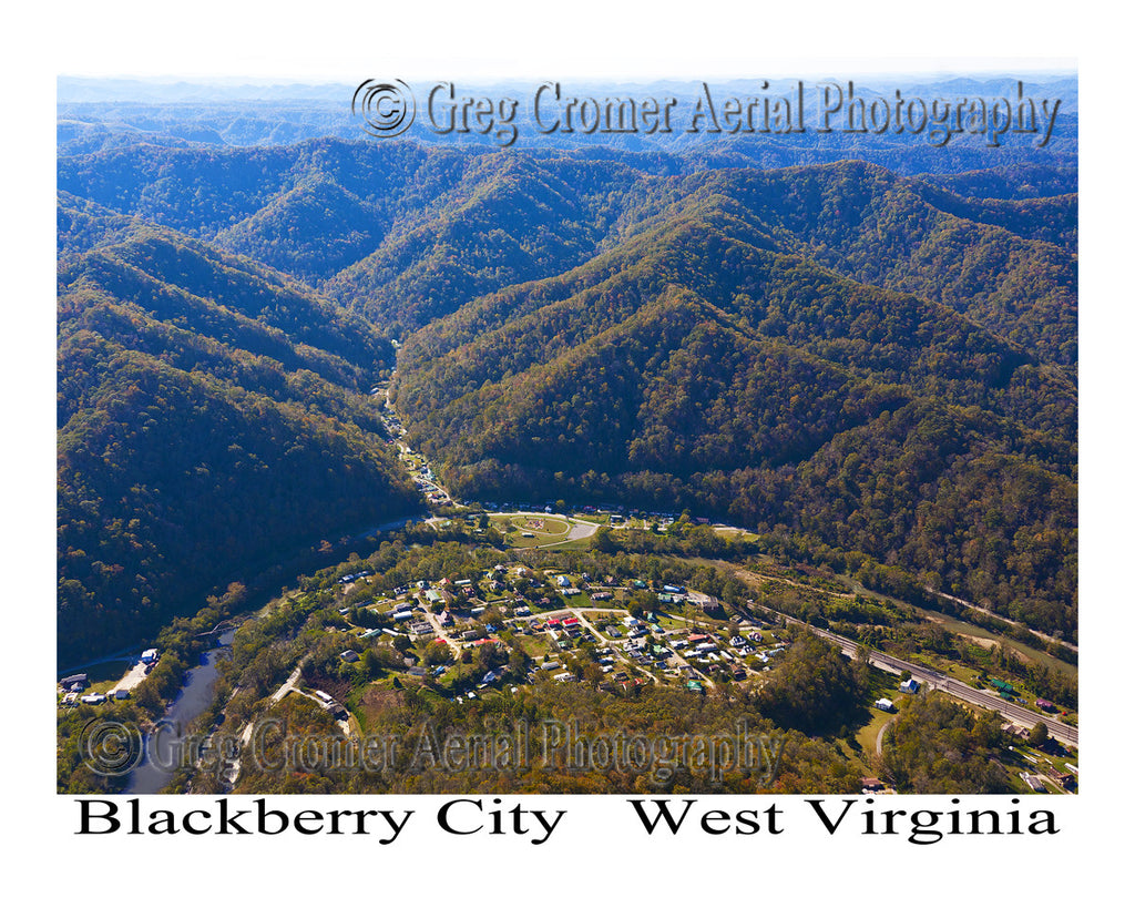 Aerial Photo of Blackberry City, West Virginia