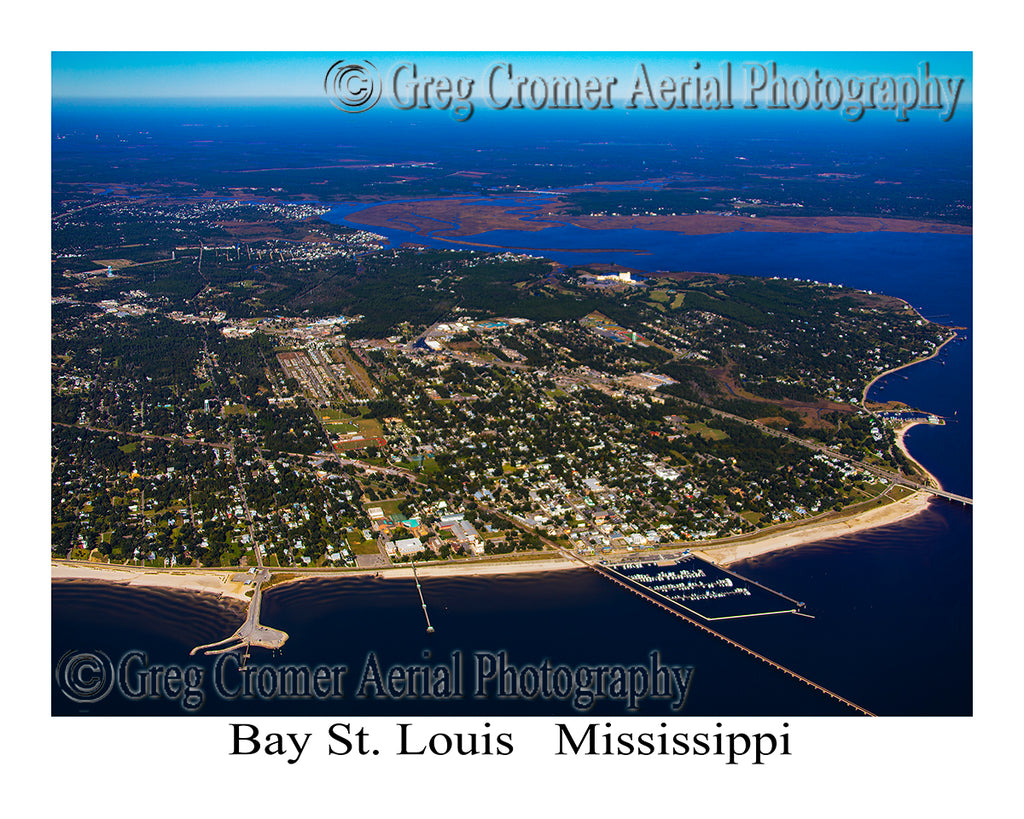 Aerial Photo of Bay St. Louis, Mississippi, Louisiana