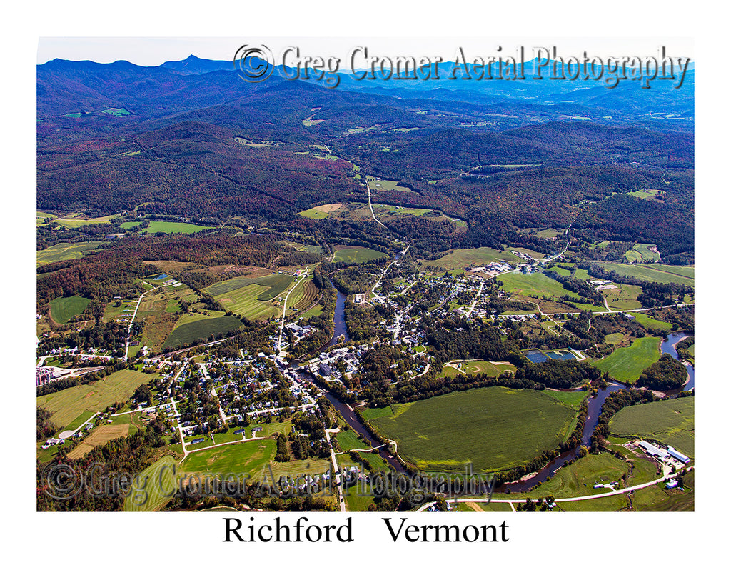 Aerial Photo of Richford, Vermont