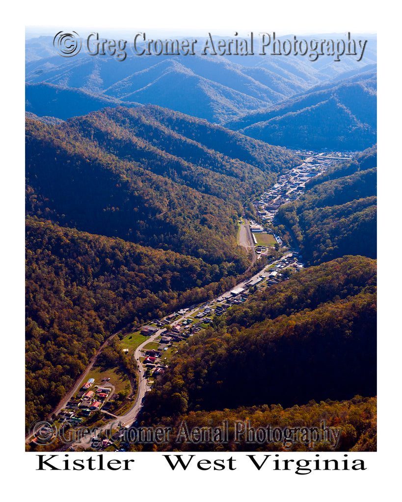 Aerial Photo of Kistler, West Virginia