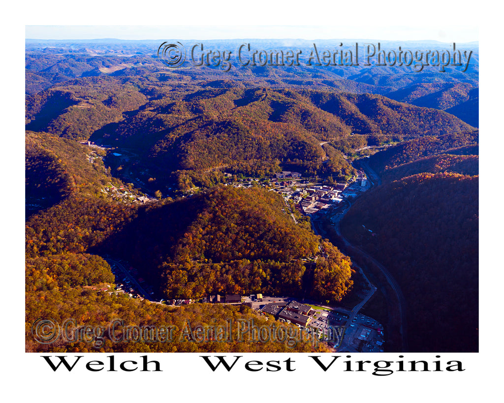 Aerial Photo of Welch, West Virginia