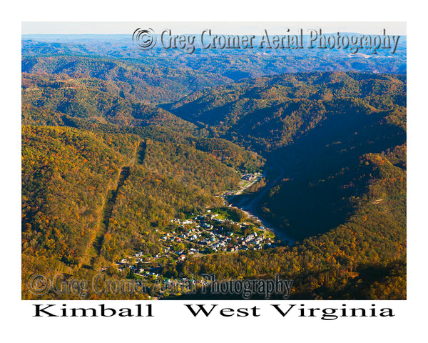 Aerial Photo of Kimball, West Virginia