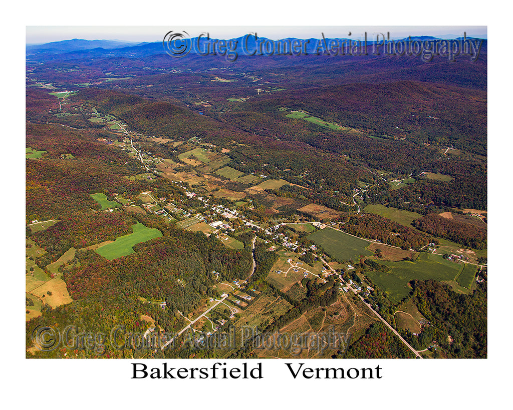 Aerial Photo of Bakersfield, Vermont
