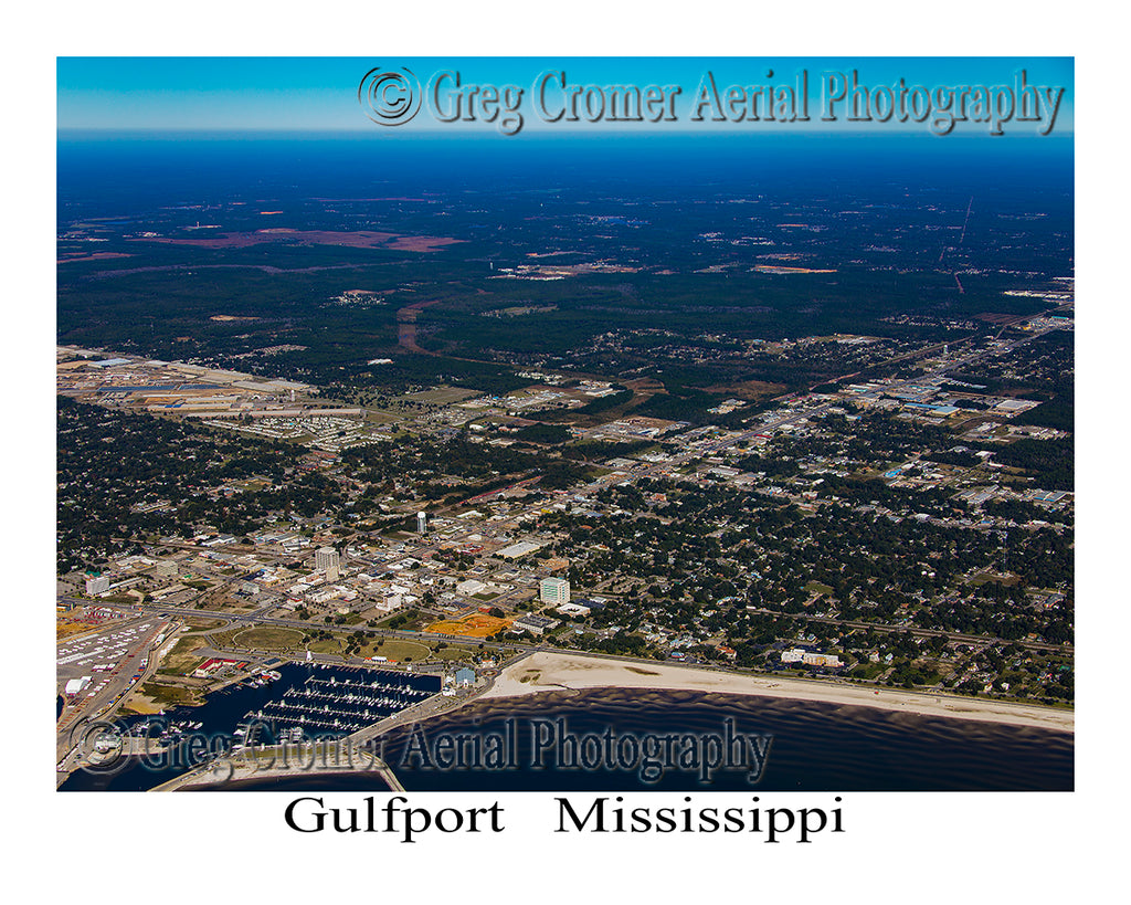 Aerial Photo of Gulfport, Mississippi