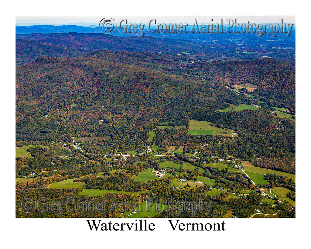 Aerial Photo of Waterville, Vermont
