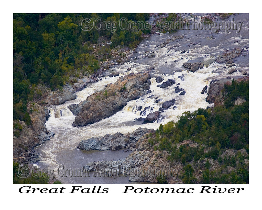 Aerial Photo of Great Falls - Potomac River, Maryland
