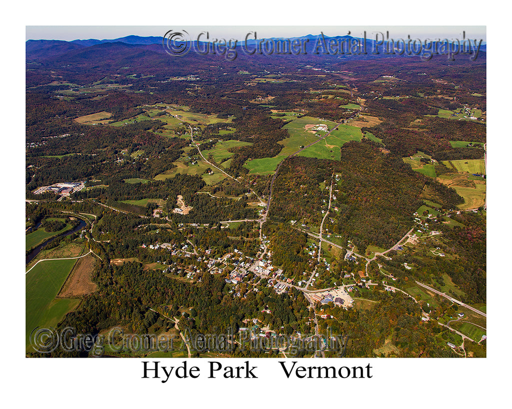 Aerial Photo of Hyde Park, Vermont