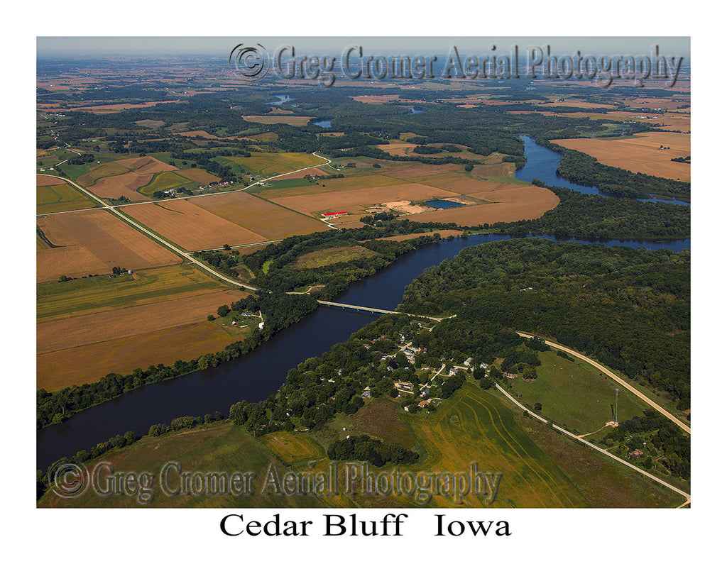 Aerial Photo of Cedar Bluff Iowa