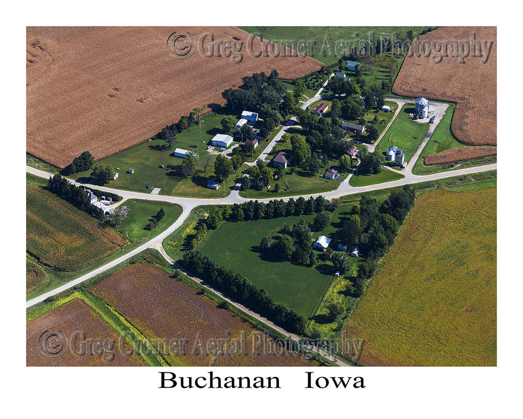 Aerial Photo of Buchanan Iowa