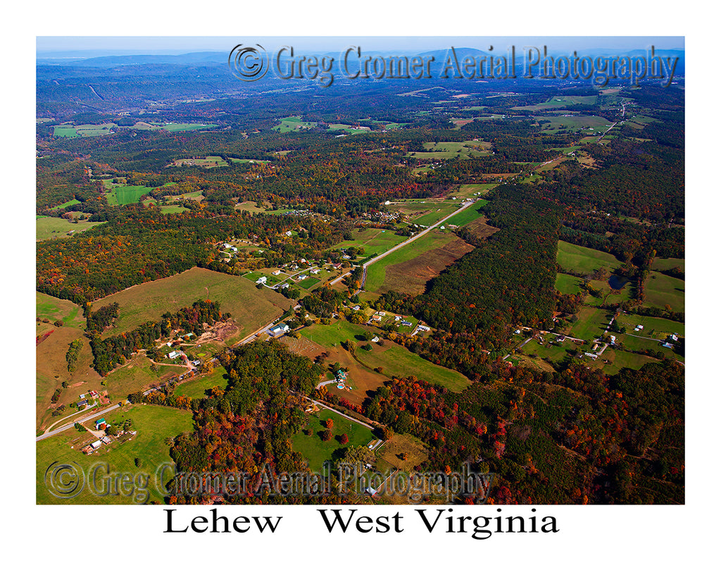 Aerial Photo of Lehew, West Virginia