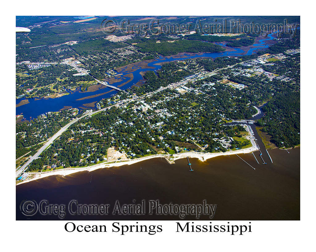 Aerial Photo of Ocean Springs, Mississippi