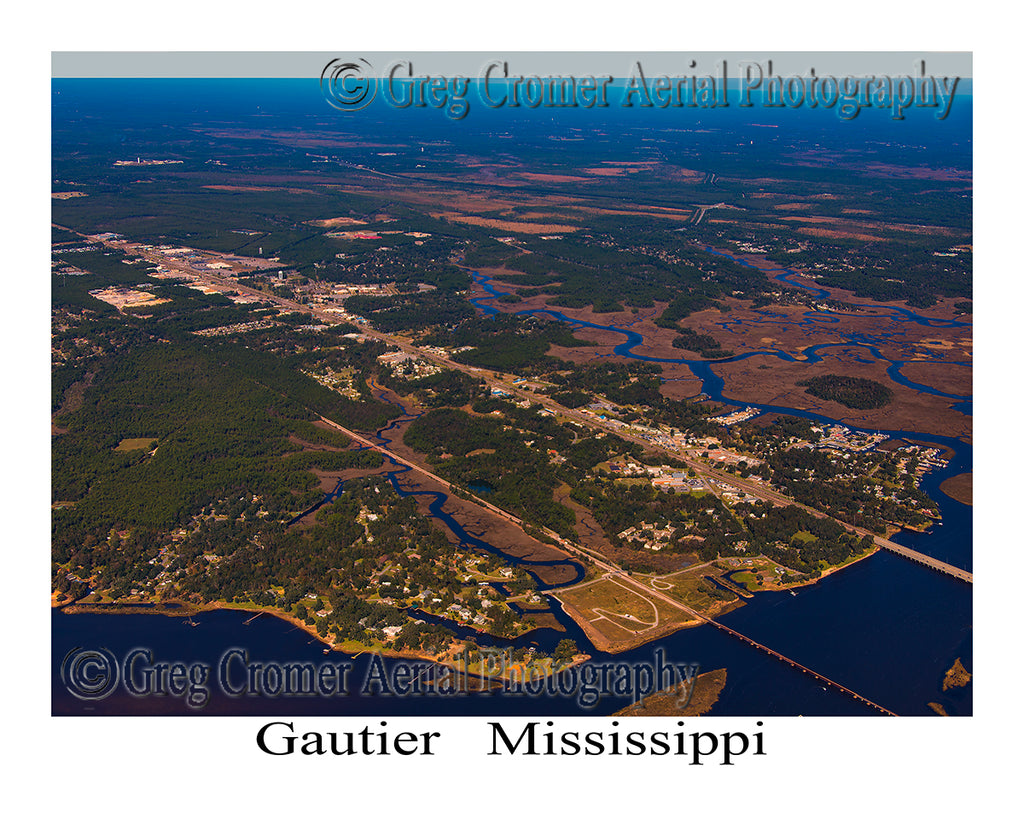 Aerial Photo of Gautier, Mississippi