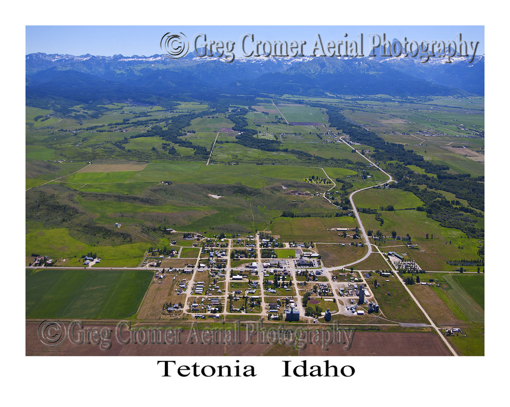 Aerial Photo of Tetonia, Idaho