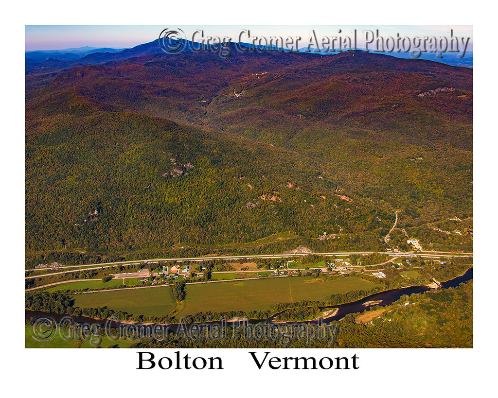Aerial Photo of Bolton, Vermont