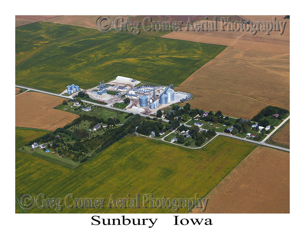 Aerial Photo of Sunbury Iowa