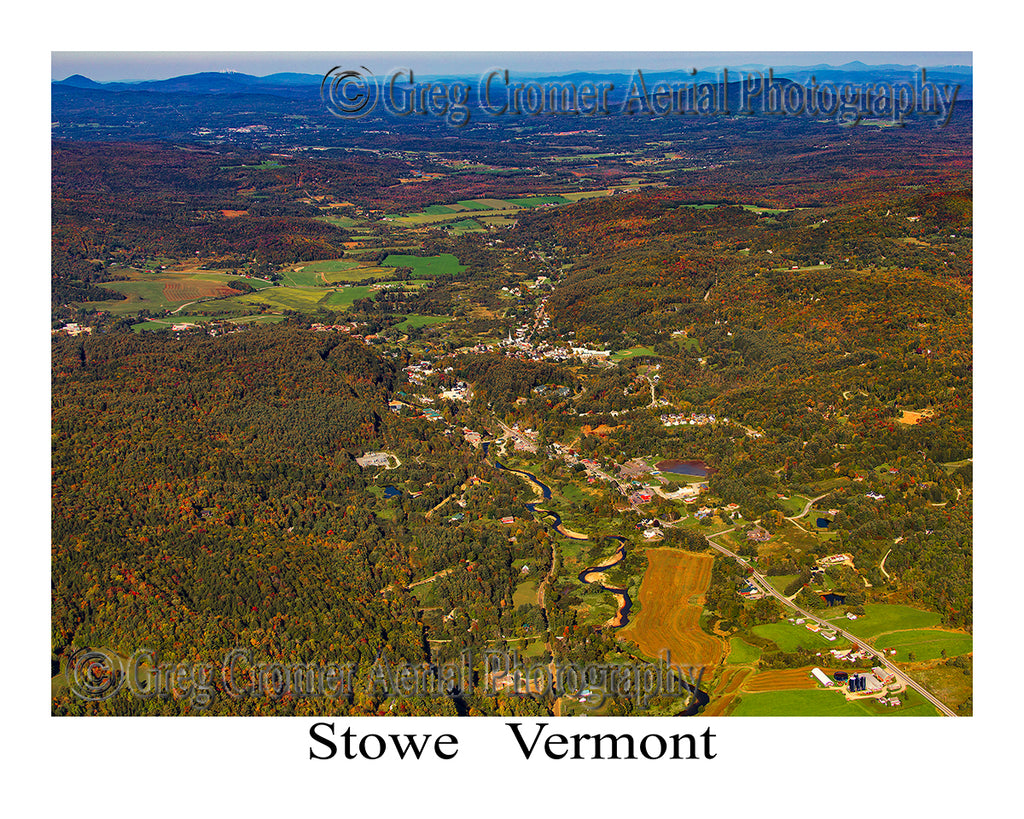 Aerial Photo of Stowe, Vermont