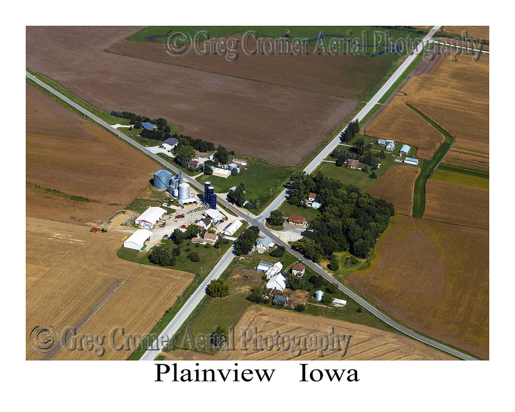 Aerial Photo of Plainview Iowa