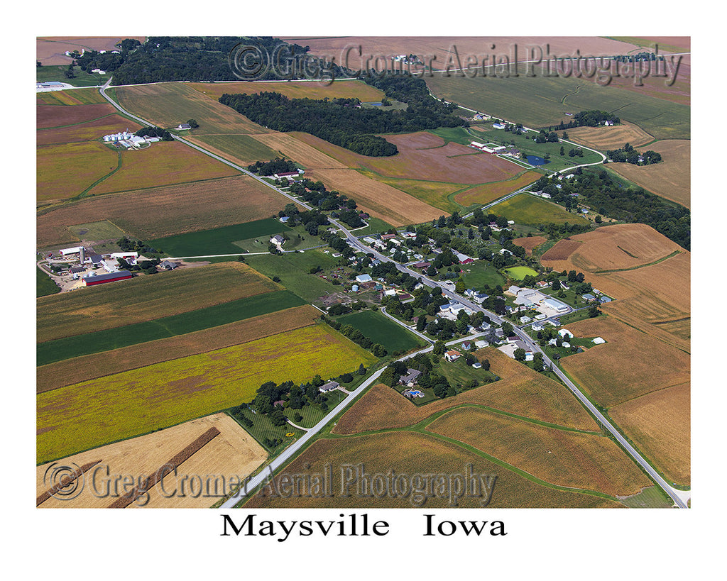 Aerial Photo of Maysville Iowa