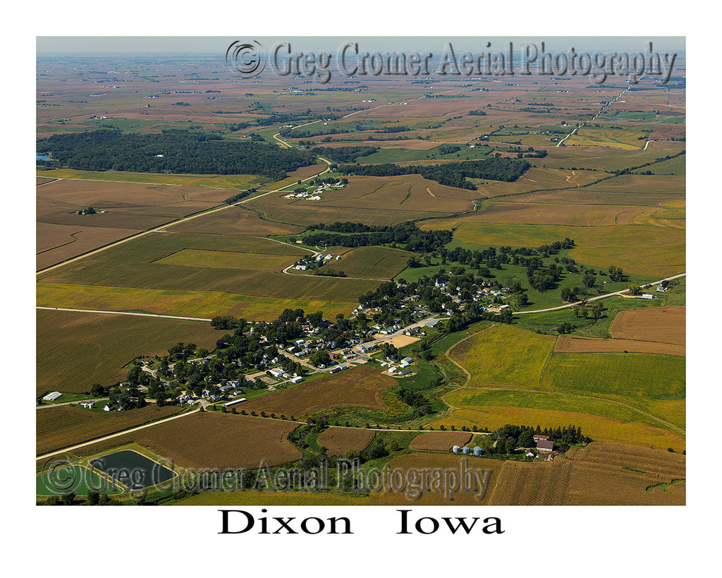 Aerial Photo of Dixon Iowa
