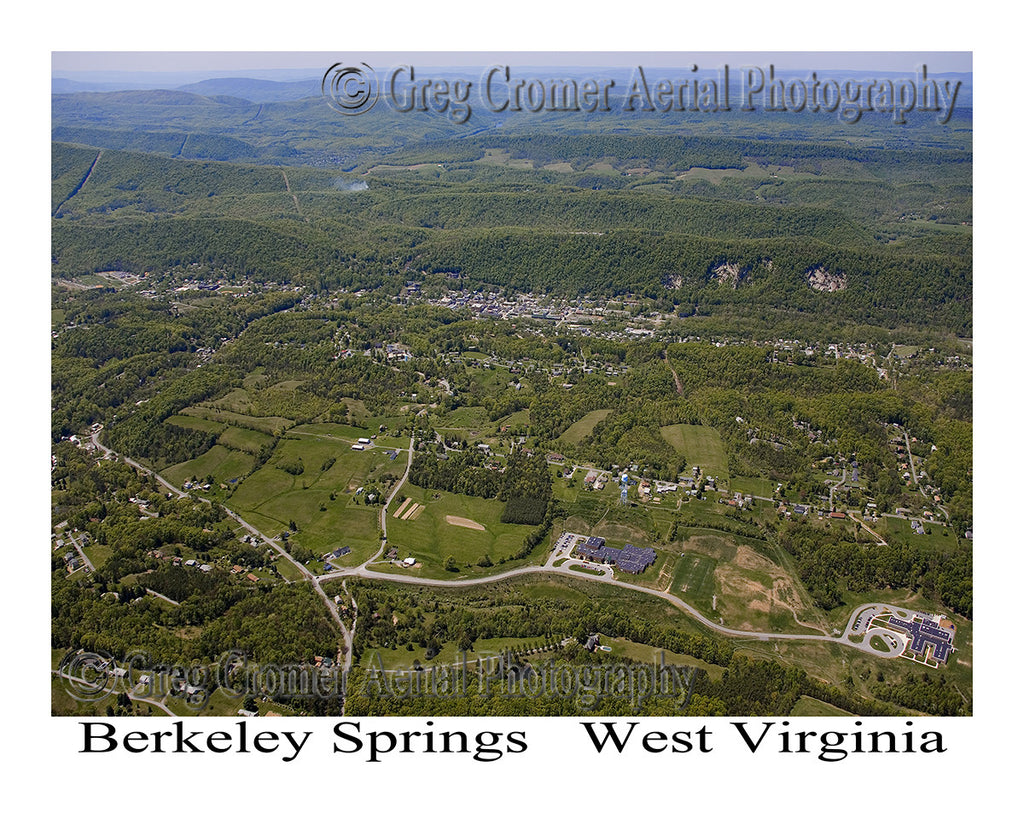 Aerial Photo of Berkeley Springs, West Virginia