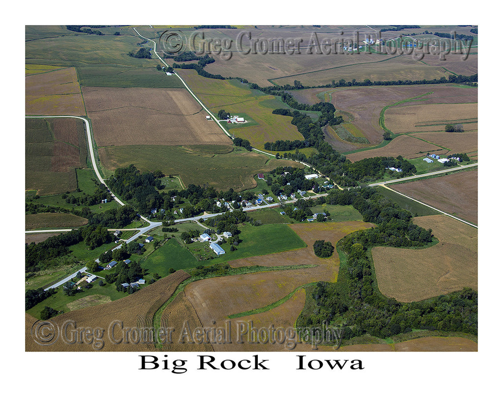 Aerial Photo of Big Rock Iowa