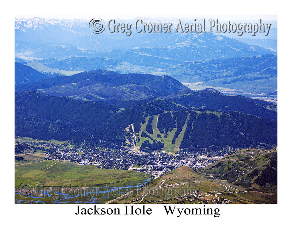 Aerial Photo of Jackson Hole, Wyoming