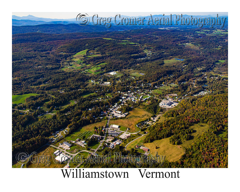 Aerial Photo of Williamstown, Vermont