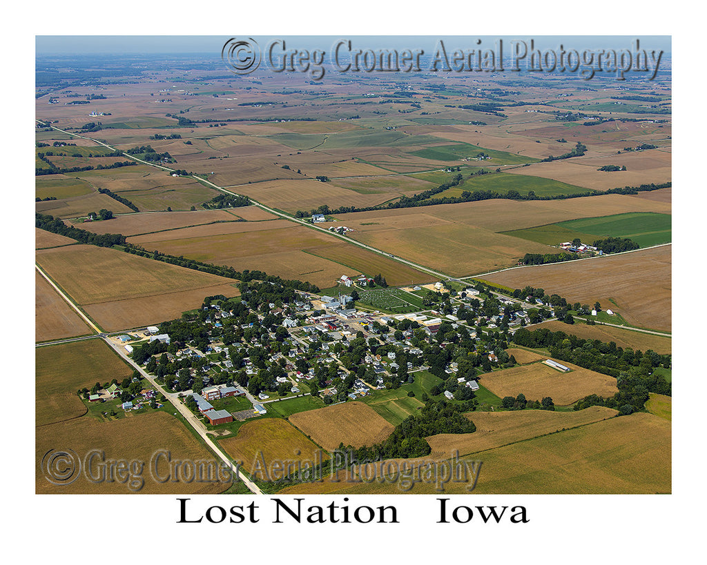 Aerial Photo of Lost Nation Iowa