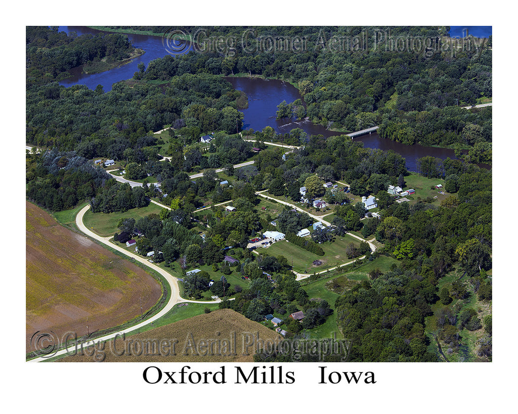Aerial Photo of Oxford Mills Iowa