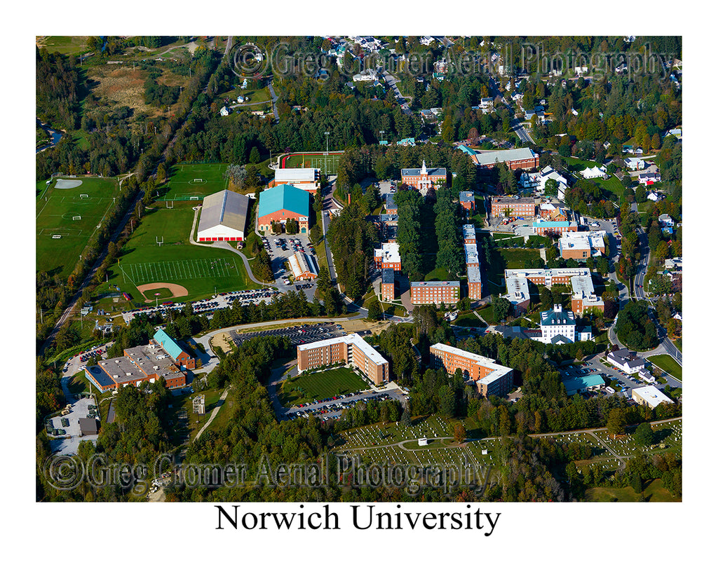 Aerial Photo of Norwich University, Northfield, Vermont
