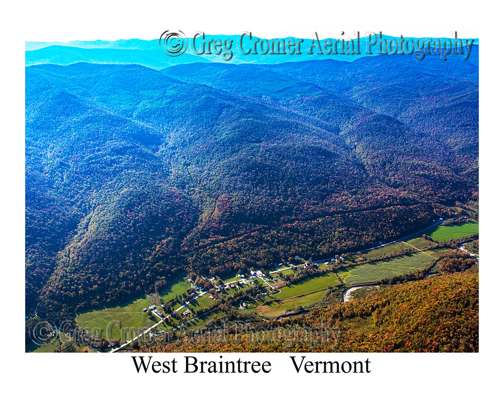 Aerial Photo of West Braintree, Vermont