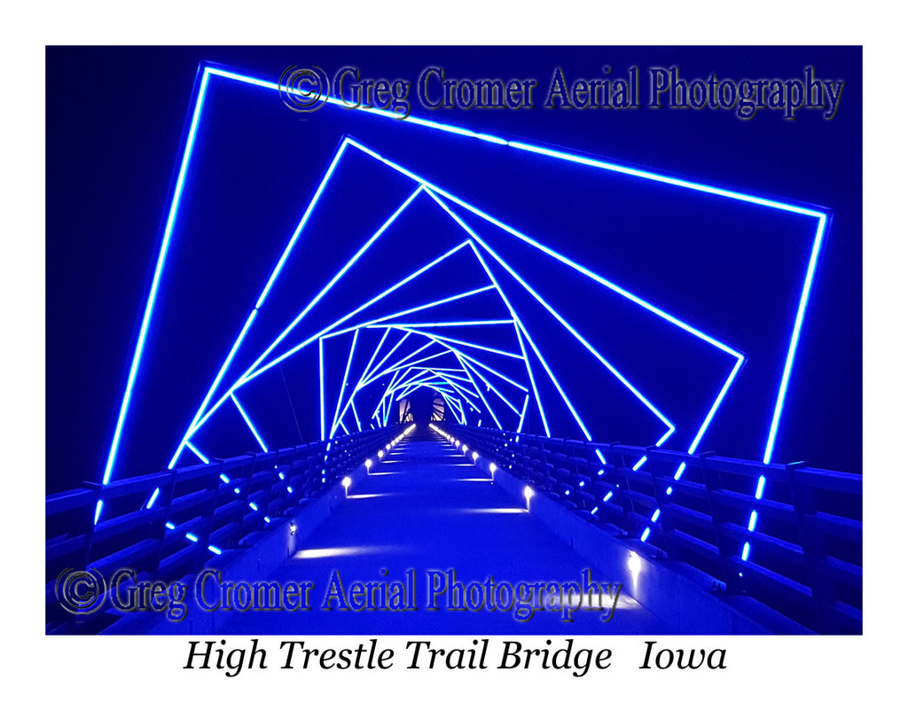 Scenic Ground Photo of High Trestle Bridge Iowa
