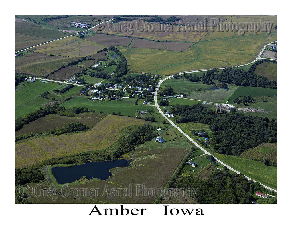 Aerial Photo of Amber Iowa