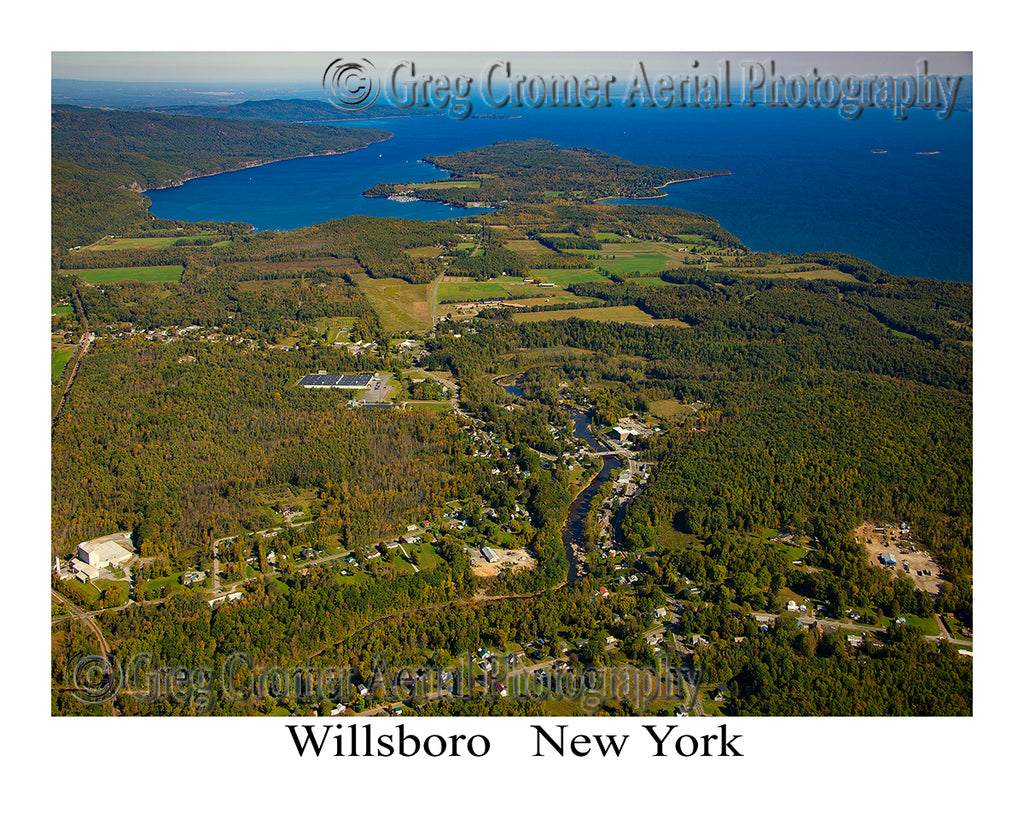 Aerial Photo of Willsboro, New York