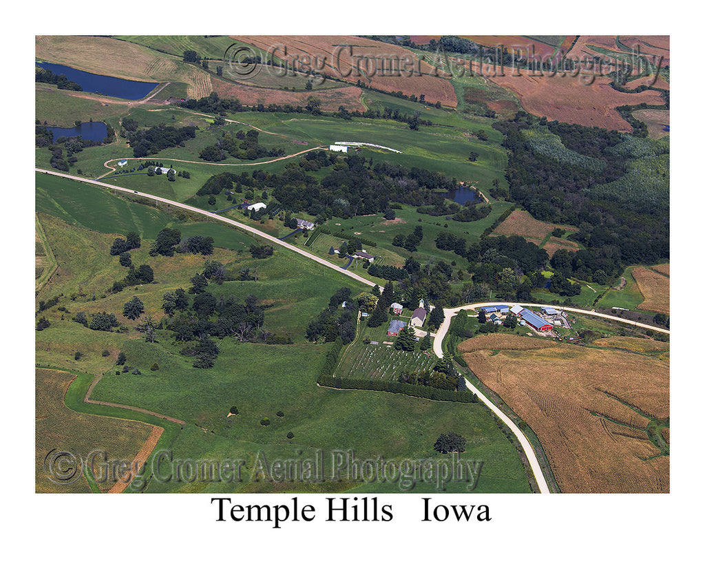 Aerial Photo of Temple Hills Iowa