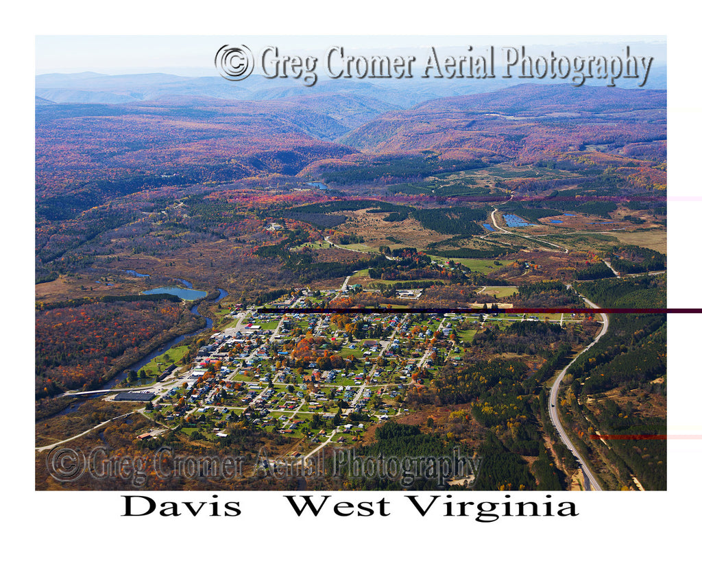 Aerial Photo of Davis, West Virginia