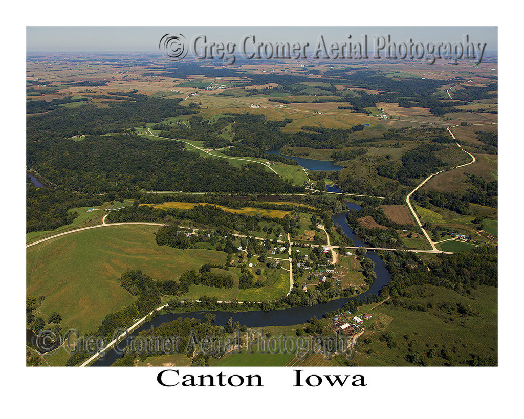 Aerial Photo of Canton Iowa