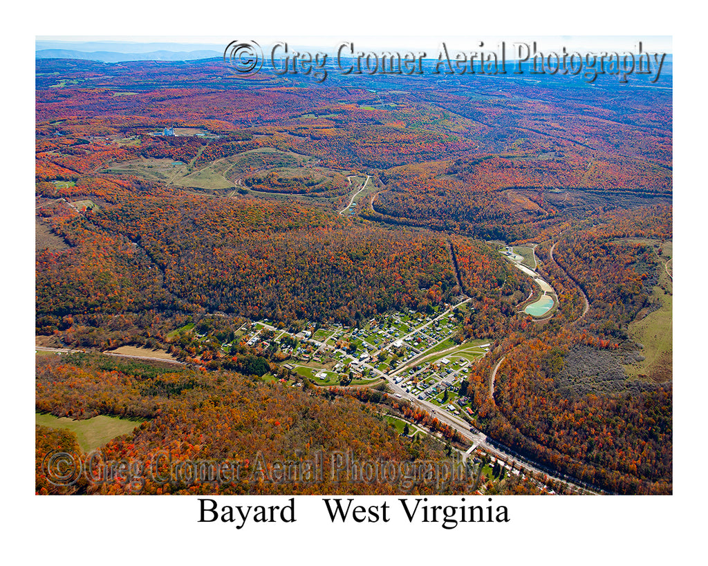 Aerial Photo of Bayard, West Virginia