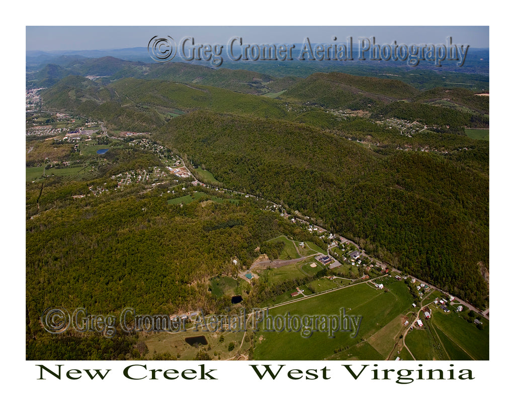 Aerial Photo of New Creek, West Virginia