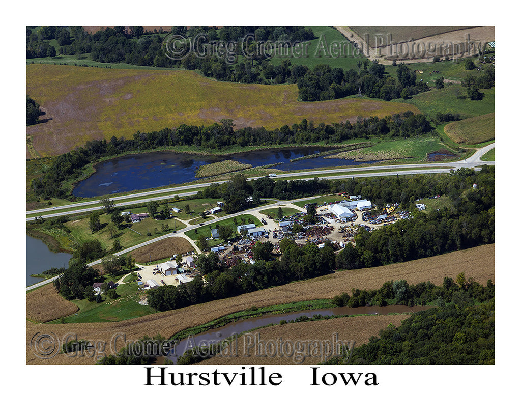 Aerial Photo of Hurstville Iowa