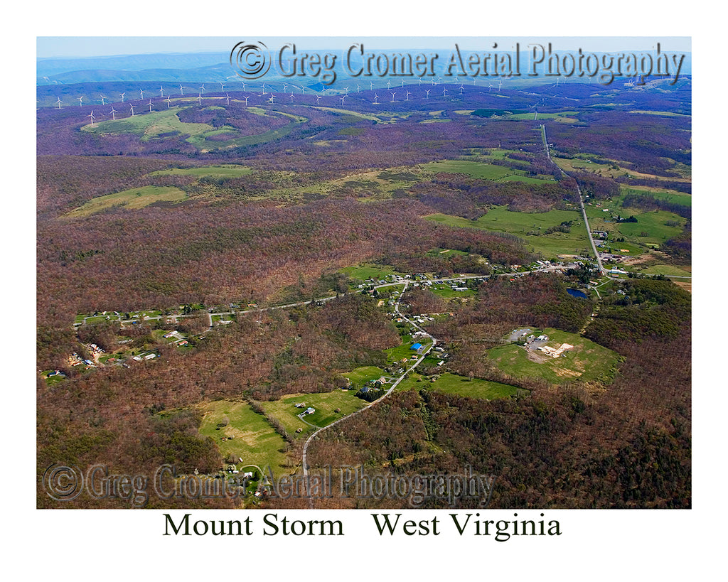 Aerial Photo of Mount Storm, West Virginia