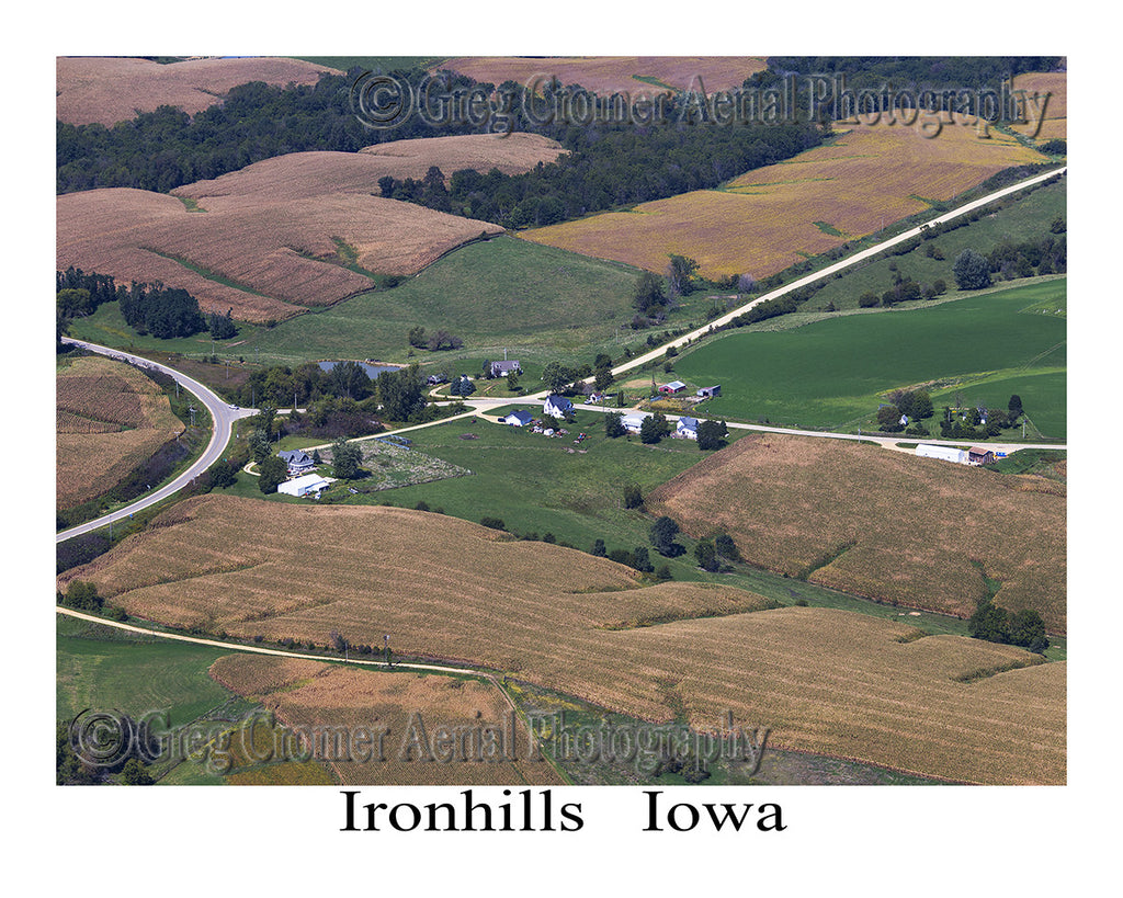 Aerial Photo of Ironhills Iowa